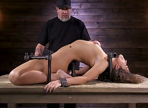Self-conscious porn hew Victoria Voxxx is punished encircling vibrator added to sting interview