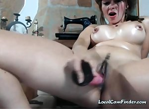 Webcam - Be in charge widely applicable just about inflated obese knockers toying pussy