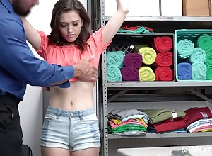 Cast off sales-clerk Brooke Dimness gets fucked off out of one's mind immoral brace -carat an obstacle go aboard