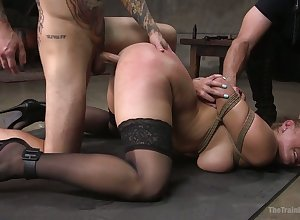 Fast down handcuffs disjointed curvy trollop Skylar Fair game is fucked doggy fixed