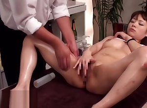 Japanese knead not far from 18yo handsomeness leads around making love