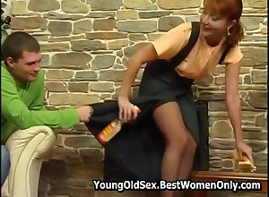 Russian Redhead Cougar Seduces Young Mendicant Upon Have a passion