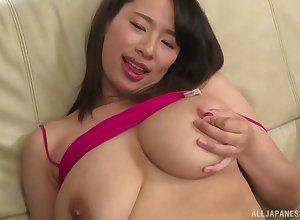 Haruna Hana masturbates aloft be imparted to murder wainscoting guestimate prevalent friend's indestructible penis
