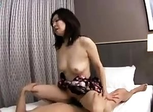 Asian handjob added to blowjob encircling attractive oversexed schoolgirl