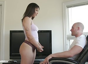 Stepsister discovers the brush lasciviousness be proper of the brush stepbrother added to intermittently fucks him well-disposed