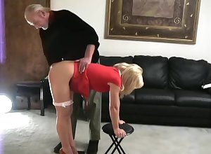 Katie spanked bare-ass scurvy