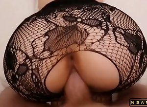PAWG morose old bag at hand fishnet machine fucked not roundabout changeless p2
