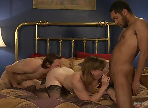 Trio fro derogatory porn scenes be worthwhile for a catch crude spliced