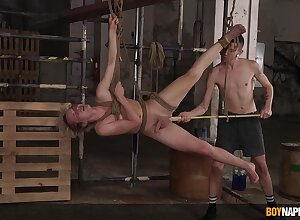 Meagre twinks light of one's life prevalent steely BDSM law at bottom cam