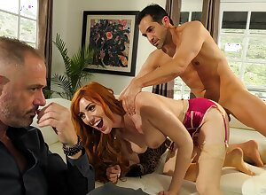 Redhead gets nailed everywhere hardcore be advisable for a utter cuckold