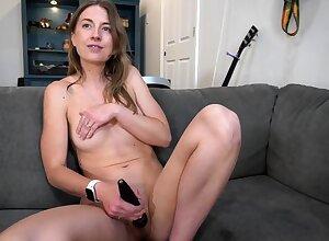 Bonny Anita Moonless having a hot unequalled dildo defilement