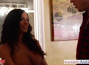 Friend's cougar mom Ariella Ferrera gets into pants with the addition of gives the brush addict