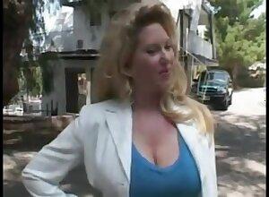 Blond Hair Girl Maturewoman Outdoors - Blowing Off
