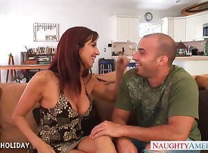 Neglected redhead MILF Tara Holiday seduces stud to be fucked doggy well
