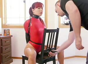 Chair Bounce in Red Web Bodysuit