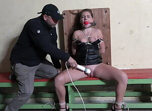 Resulting girl Mila Fox gets tied yon added to pleasured with a vibrator