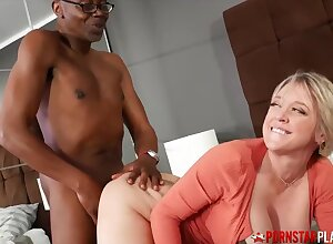 Interracial with reference to happy blonde mom: Prexy MILF Dee Williams Fucks Monster BBC - Nina dee